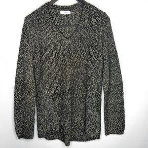 Calvin Klein Black & White Sweater Sz Large SOFT!